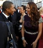 Maya Rudolph and Pharrell Williams caught up.