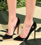 Kate Bosworth selected this sleek pair of Louboutin pumps.