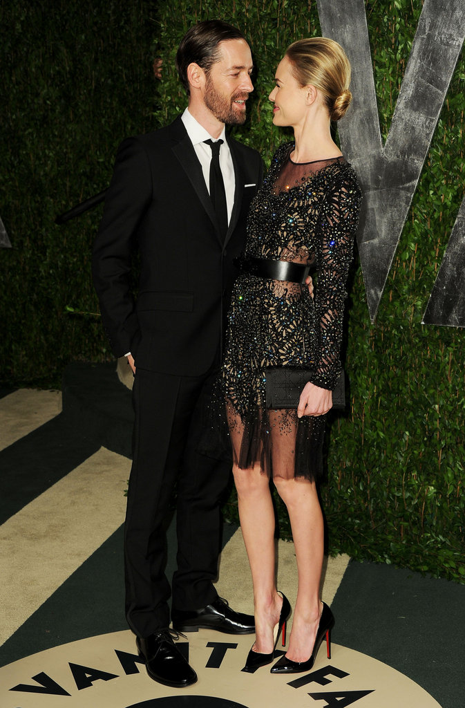 Michael Polish cleaned up to escort a Prabal Gurung-clad Kate Bosworth to Vanity Fair's annual Oscar bash.