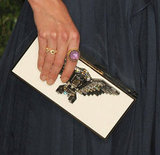 Katie Holmes paired this eagle-adorned Lanvin clutch with her pretty Elie Saab gown.