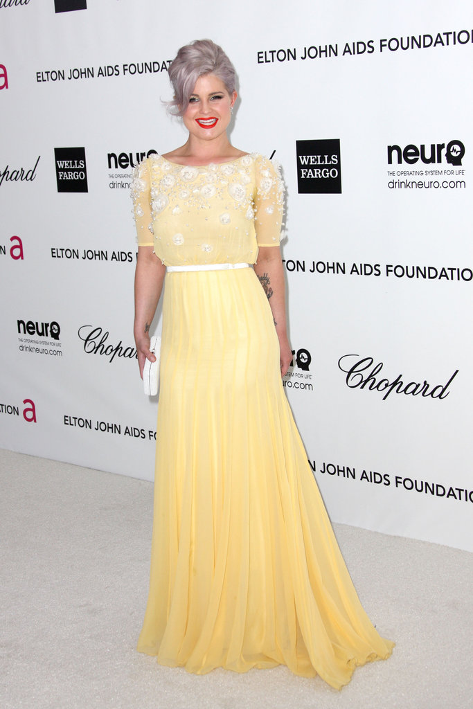Kelly Osbourne went for a sweet style in a daffodil yellow gown by Georges Hobeika Couture.