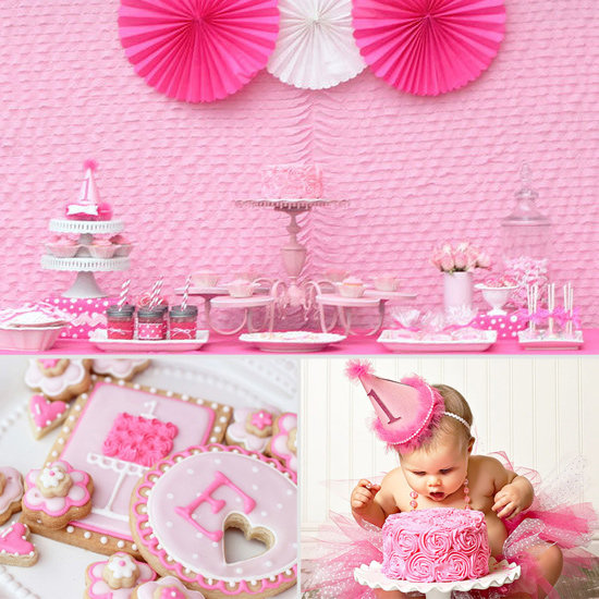Pretty in Pink: A Super-Girlie First Birthday Party