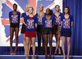 Alisha, Sophie, Catherine, Louise, Annalise, Jasmia, and Ashley on America's Next Top Model.  Photo courtesy of The CW