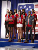 Laura, Eboni, Kyle, Mariah, Seymone, Azmarie, and Candace on America's Next Top Model.  Photo courtesy of The CW