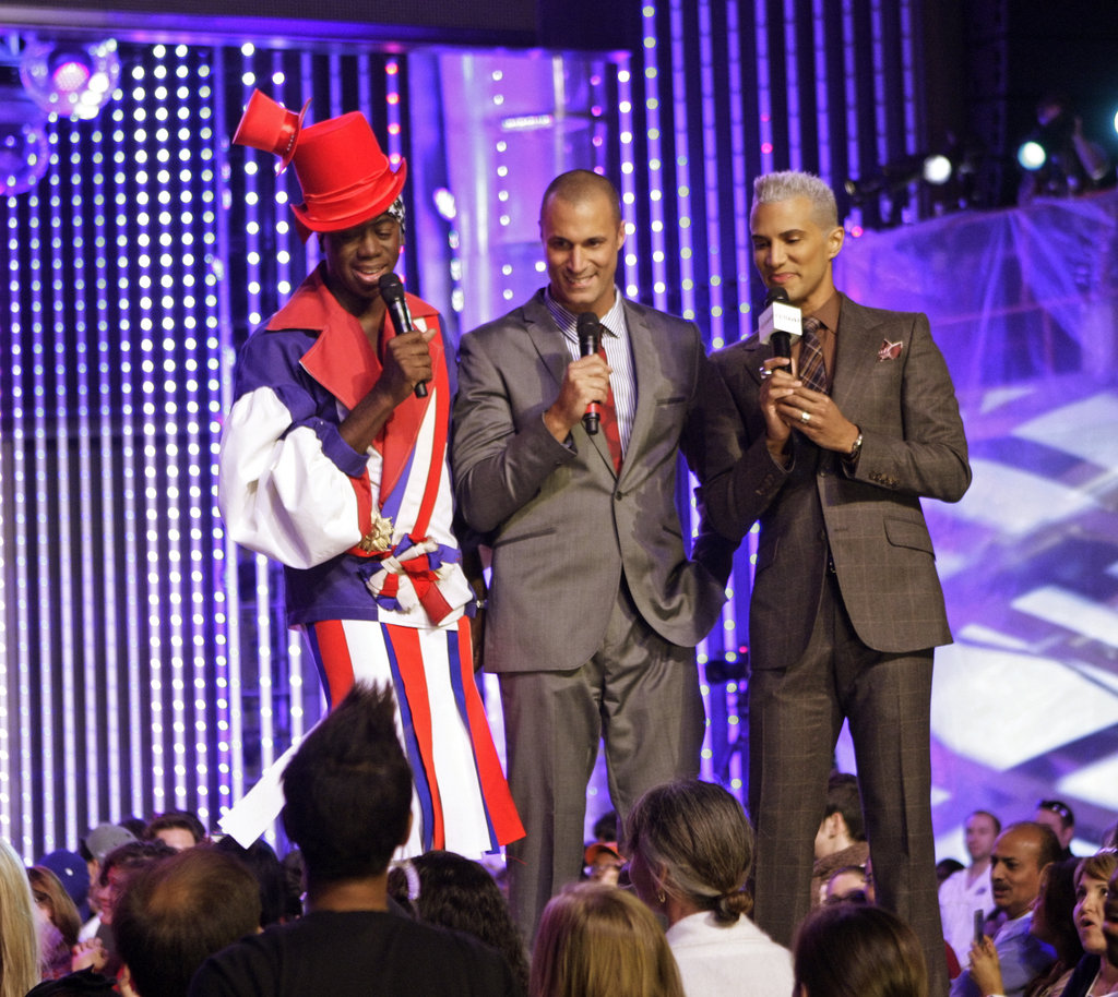 J. Alexander, Nigel Barker, and Jay Manuel on America's Next Top Model.  Photo courtesy of The CW
