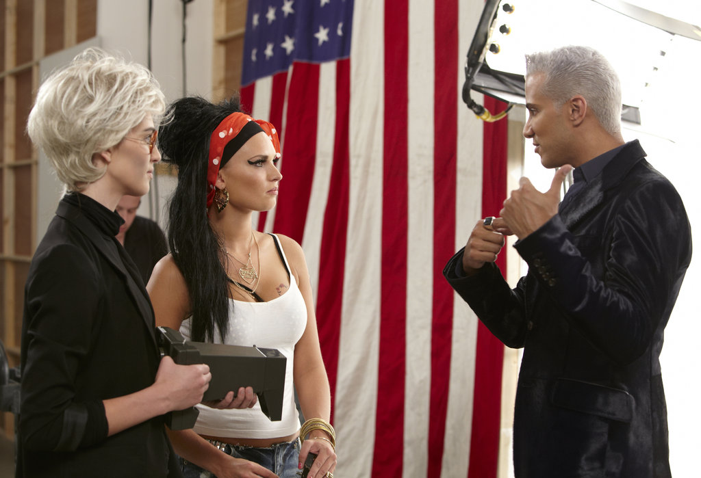 Kyle, Louise, and Jay Manuel on America's Next Top Model.  Photo courtesy of The CW