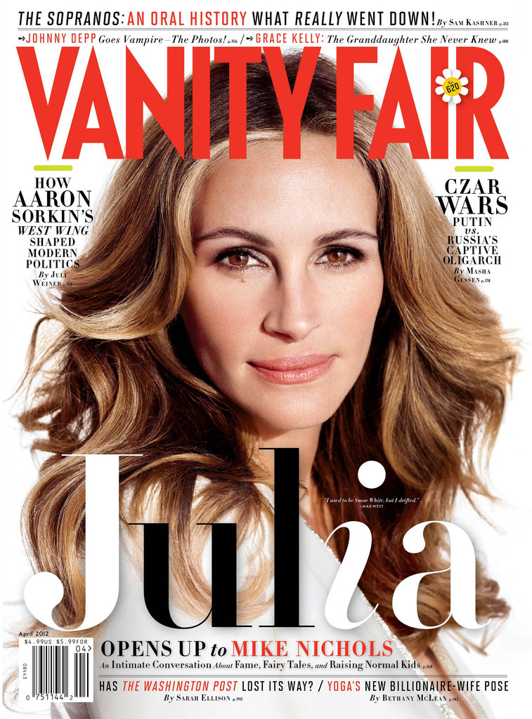 Julia Roberts covers Vanity Fair.
