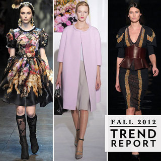 Milan Fashion Week Top Trends Fall 2012
