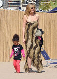 Heidi Klum attended a beach party in LA over the weekend with daughter Lou.