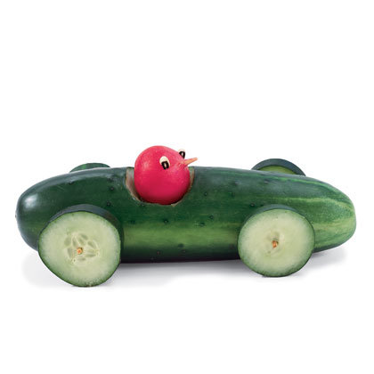 Cucumber-Radish Race Car