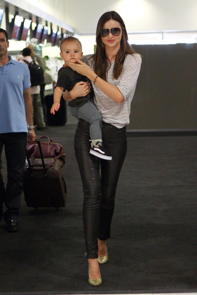 Miranda Kerr and Flynn Bloom left Sydney on Monday.