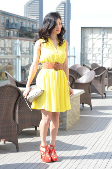 Spring Must-Haves: Yellow Dress & Coral Heels