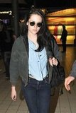 Kristen Stewart touched down in Europe.