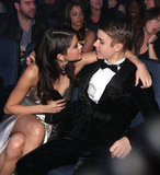 Selena Gomez chatted with Justin Bieber in the audience at the American Music Awards in November 2011.