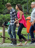Justin Bieber took Selena Gomez on a helicopter ride in Brazil in October 2011.