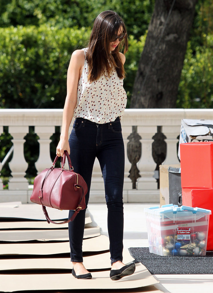Miranda Kerr stepped out solo.