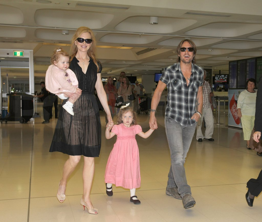 Nicole Kidman and Keith Urban were on the go with Sunday Urban and Faith Urban.