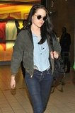 Kristen Stewart arrived in Paris.