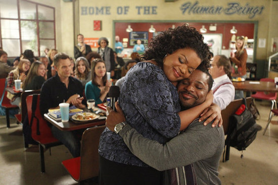 Yvette Nicole Brown as Shirley and Malcolm Jamal Warner as Andre in Community. Photo courtesy of NBC