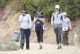 Natalie Portman took Aleph Millepied to a Hollywood Hills hiking trail.