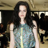 Kristen Stewart in Leather Pants at Fashion Week (Video)