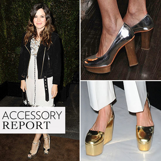 Pedal to the Metal: Celebs Embrace Spring's Metallic Footwear