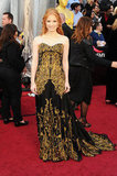 Maybe her best yet: a gold baroque McQueen gown at the 2012 Oscars.