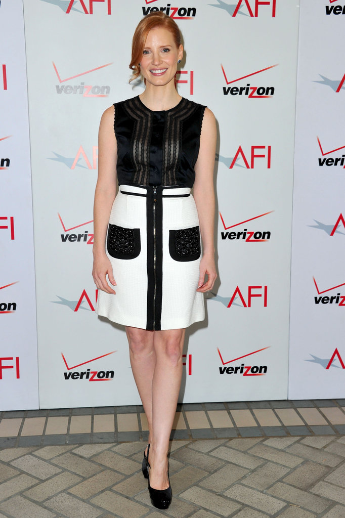 A modern Andrew Gn mini for the 2012 AFI Awards.