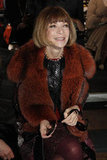 Anna Wintour showed off her signature style front row at Dries Van Noten.