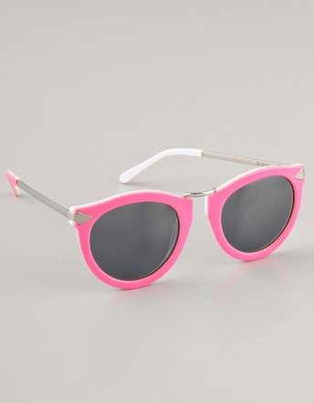 The bubblegum-pink frame is irresistibly cute!  Karen Walker Harvest Sunglasses ($280)