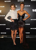 Jessica Hart and Jennifer Hawkins