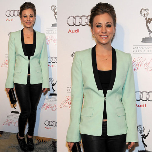 Kaley Cuoco Mint Blazer