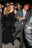 Mariah Carey stuck close to husband Nick Cannon.