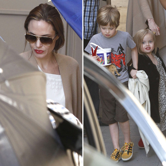 Angelina Jolie, Shiloh, and Vivienne at the Movies Pictures