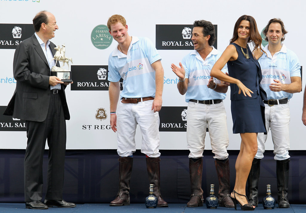 Prince Harry Wraps Up His Brazilian Tour With a Kiss