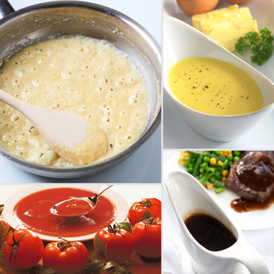 mother sauces Channel your inner julia child with the five basic sauce recipes that rule  the  modern list of mother sauces: hollandaise, velouté, béchamel,.