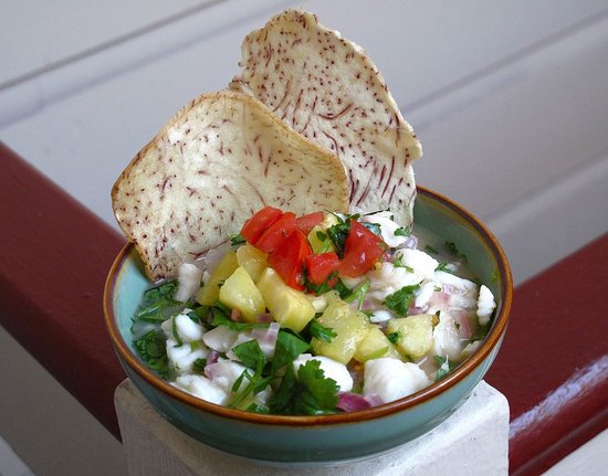 Hawaiian Ceviche With Pineapple Salsa