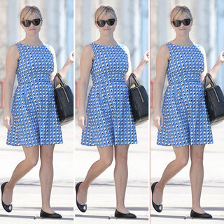 Reese Witherspoon Blue Print Dress