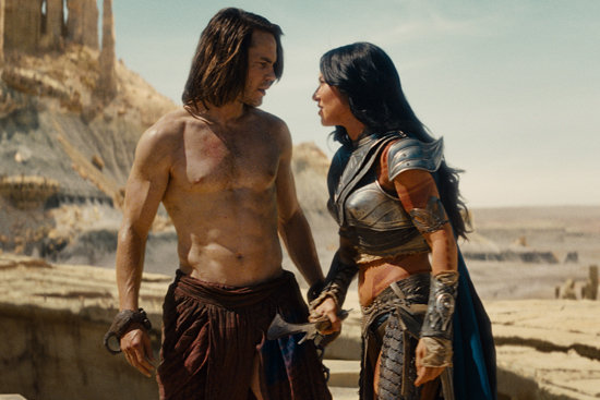Taylor Kitsch and Lynn Collins in John Carter. Image courtesy of Walt Disney Pictures