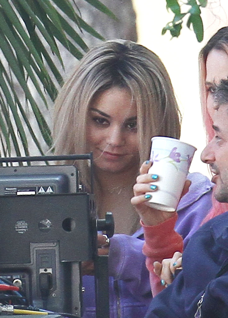 Vanessa Hudgens showed off a new look.