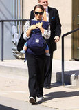 Natalie Portman carried her baby son Aleph in LA.