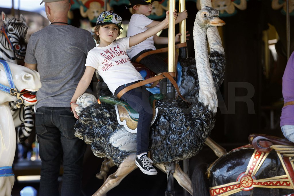 Kingston Rossdale on a carousel.