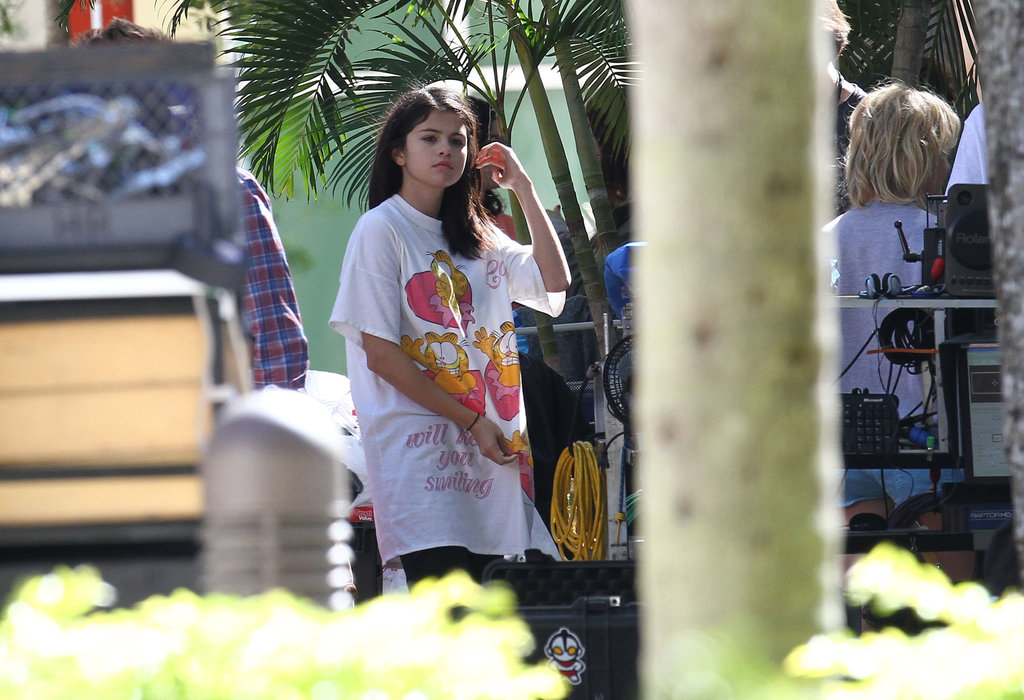 Selena Gomez joined her costars on the Florida set.