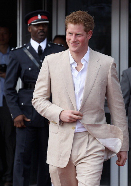 Prince Harry in the Bahamas.
