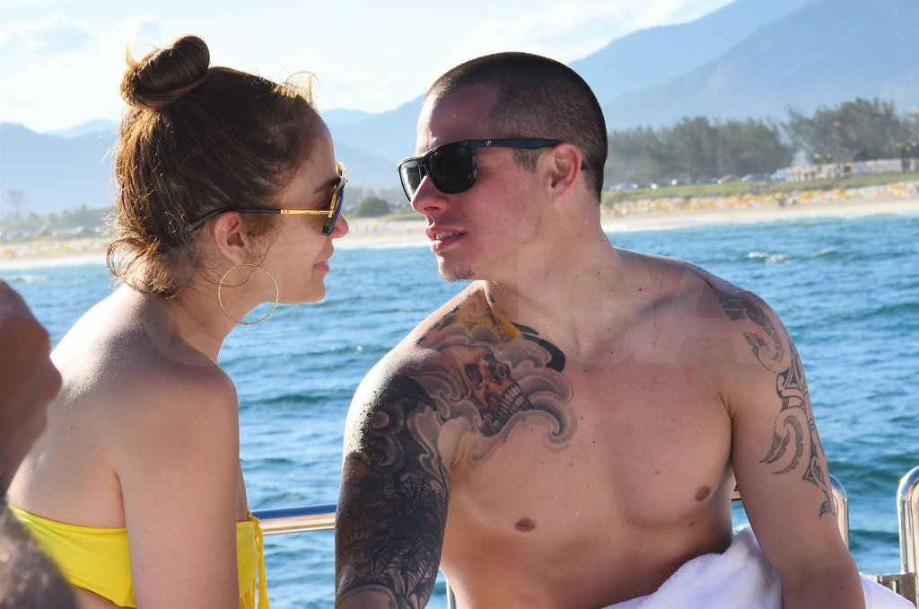 Jennifer Lopez wore a bikini in Rio with shirtless Casper Smart.