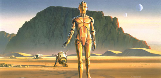 Ralph's vision of droids in Star Wars: A New Hope. Source: StarWars.com