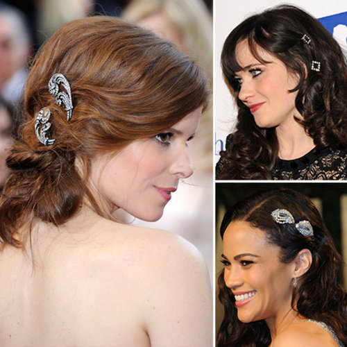 Celebrities Wearing Jewelled Hair Accessories
