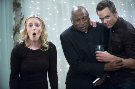 Gillian Jacobs as Britta and Joel McHale as Jeff in Community. Photo courtesy of NBC
