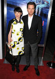 Ewan McGregor had his wife Eva Mavrakis by his side.