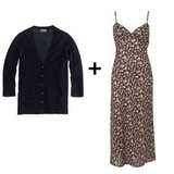 Channel a little '90s-femme in a floral-print slip dress. Then anchor the style with a cashmere cardigan and add field boots to further the nostalgia, or slip into platforms to dress it up.  J.Crew Cashmere V-Neck Cardigan ($175), Topshop 90s Grunge Flower Slip Dress ($96)